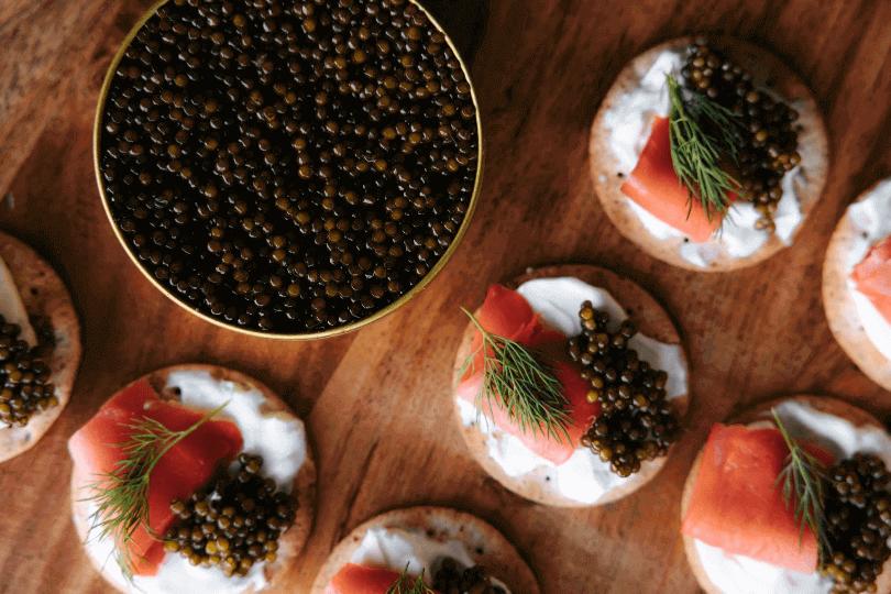caviar platos
